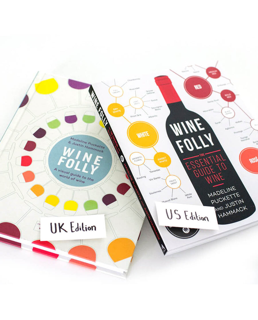 Compare Wine Folly's Books - the 2 first editions for US and UK from 2015