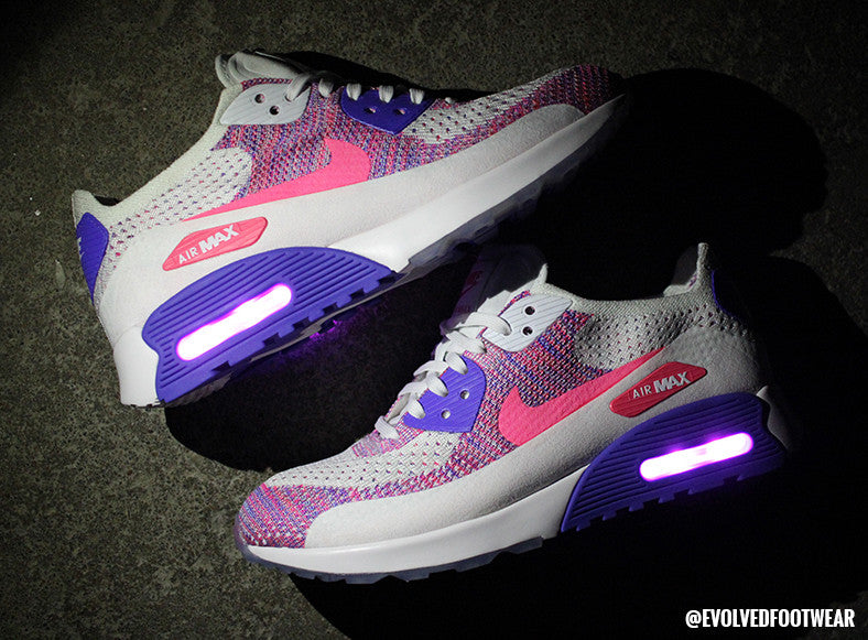 FlyKnit Nike Air Max 90 womens light up shoes