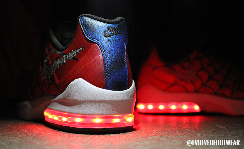 Spider-Man adult light up sneakers custom nike