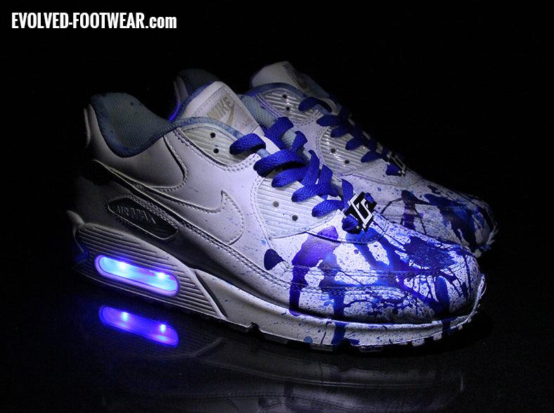 Custom Painted Nike Air Max 90 Project 6  Blue Ink d06251fc823c