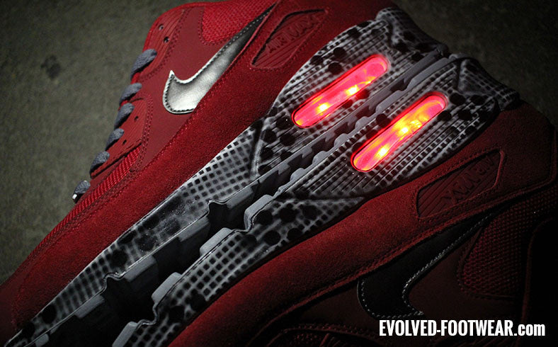 Nike Air Max 90 Red LED Sneakers