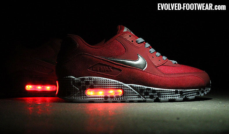 Red Light Up Shoes Nike Air Max 90