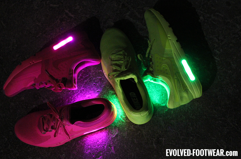 LED Sneakers Nike Air Max Zero Volt Pink Custom NikeID