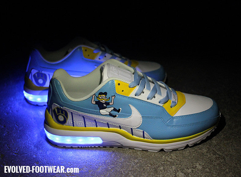 Milwaukee Brewers Custom Shoes Nike Air Max