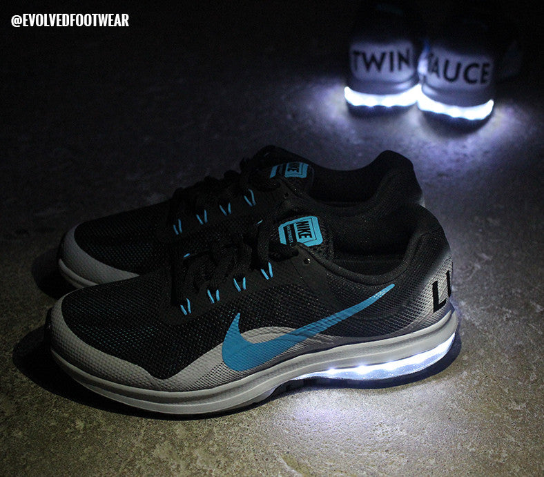 Twinsauce daily vlogger custom light up shoes