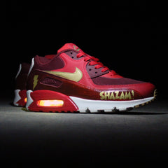SHAZAM NIKE AIR MAX 90 CUSTOM WITH YELLOW LIGHTS - Evolved Footwear