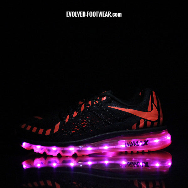 HOT LAVA WOMENS NIKE AIR MAX 2015 NR WITH PINK LIGHTS