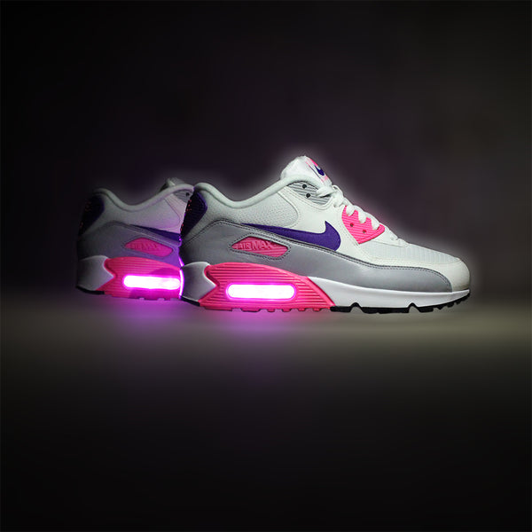 08b9c4f8650b ... promo code for no reviews womens pink purple nike air max 90 with  lights 05340 25f19