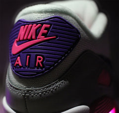 WOMEN'S PINK PURPLE NIKE AIR MAX 90 WITH LIGHTS - Evolved Footwear