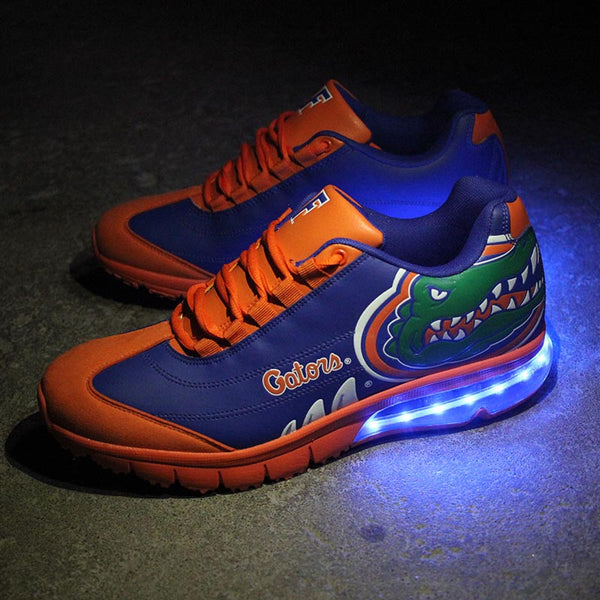 FLORIDA GATORS COLLEGIATE SNEAKER WITH BLUE LED LIGHTS