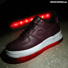 NIGHT MAROON NIKELAB AIR FORCE 1 LIGHT UP SHOES