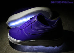 PURPLE NIKELAB AIR FORCE 1 LIGHT UP SHOES