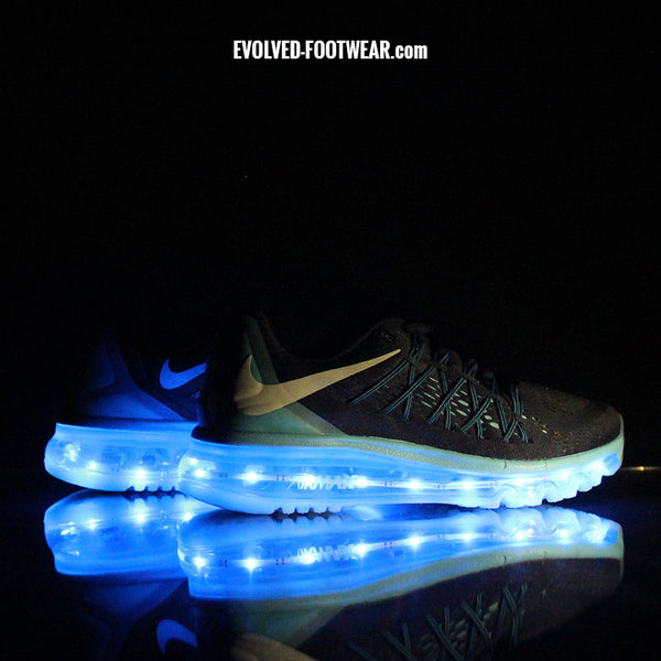 WOMEN'S BLUE NIKE AIR MAX 2015 WITH LIGHTS
