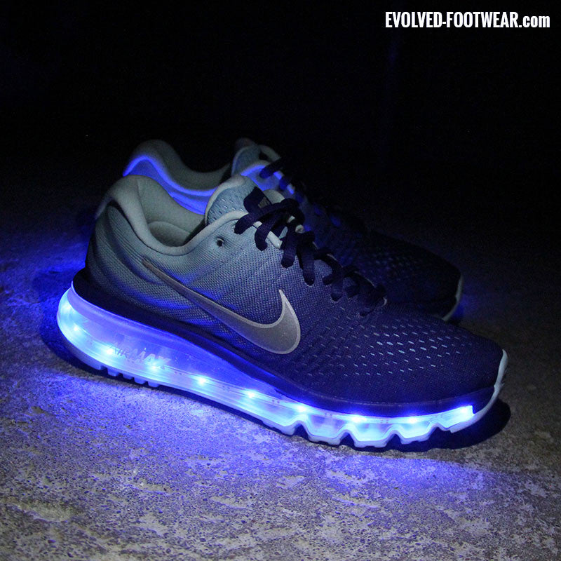 YOUTH NIKE AIR MAX 2017 WITH BLUE LIGHTS