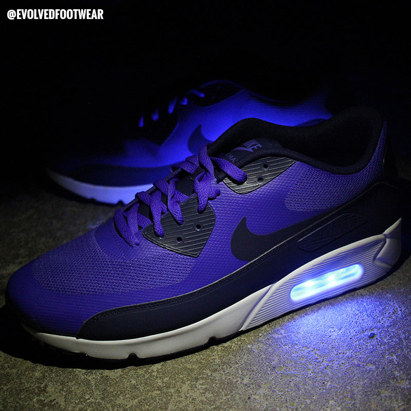 MENS BLUE NIKE AIR MAX 90 WITH LIGHTS