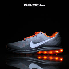 NIKE AIR MAX DYNASTY 2 WITH ORANGE LIGHTS