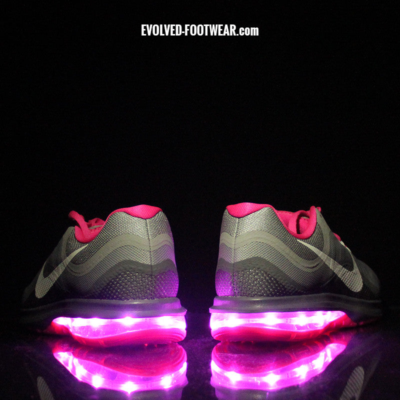 more photos 94b22 82eec ... womens nike air max dynasty 2 with pink lights .. ...