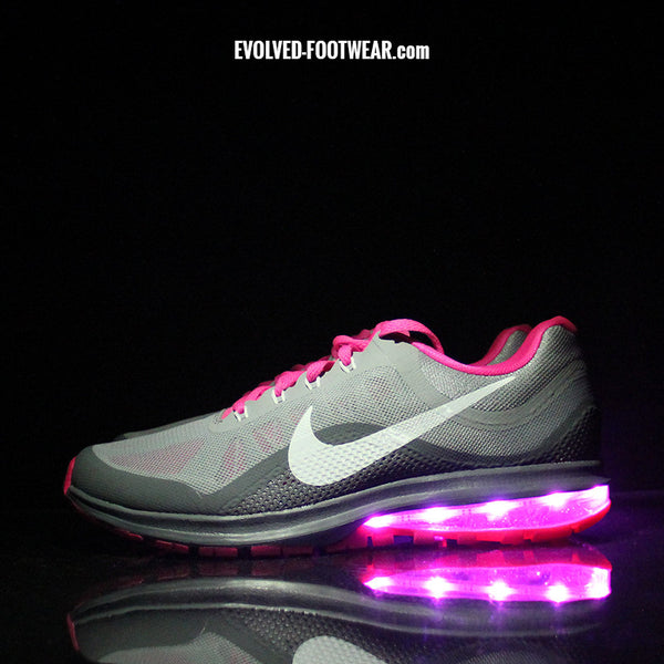 WOMEN'S PINK NIKE AIR MAX DYNASTY WITH LED LIGHTS