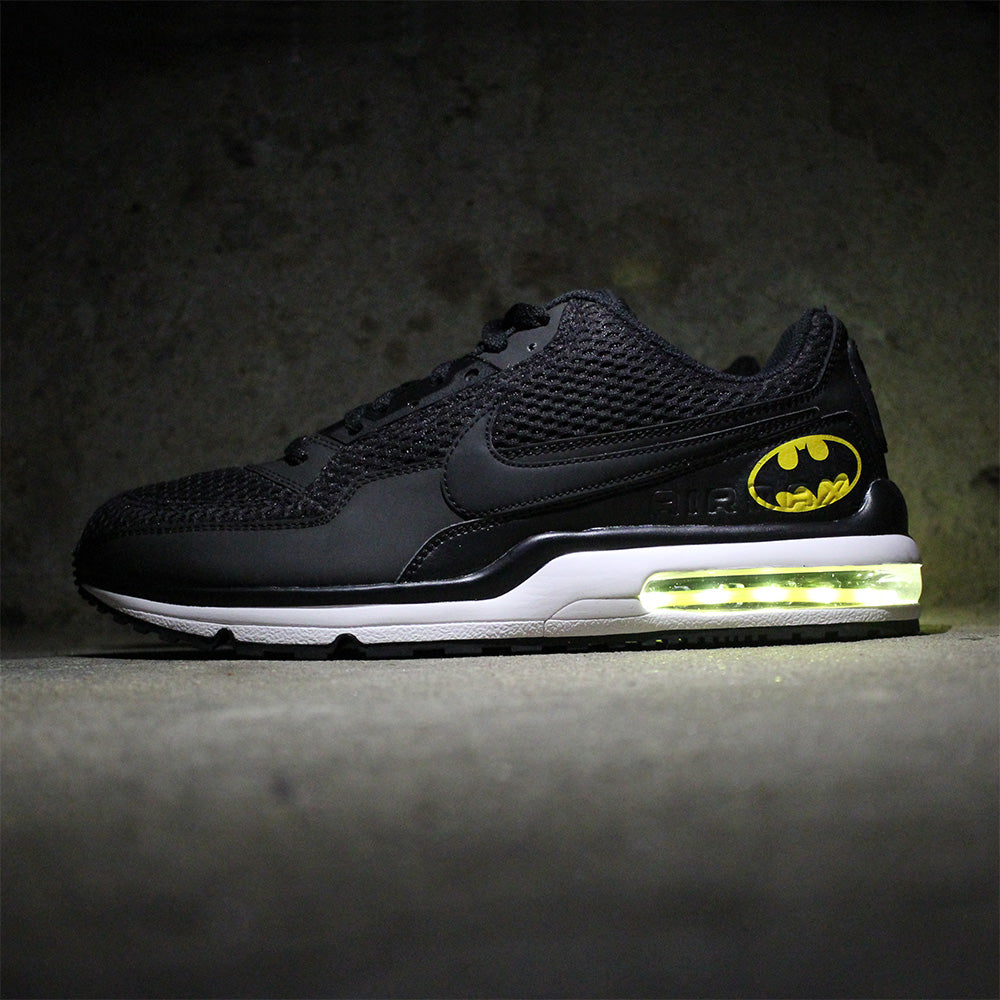 newest d6925 adf82 batman nike air max 90 with yellow led lights
