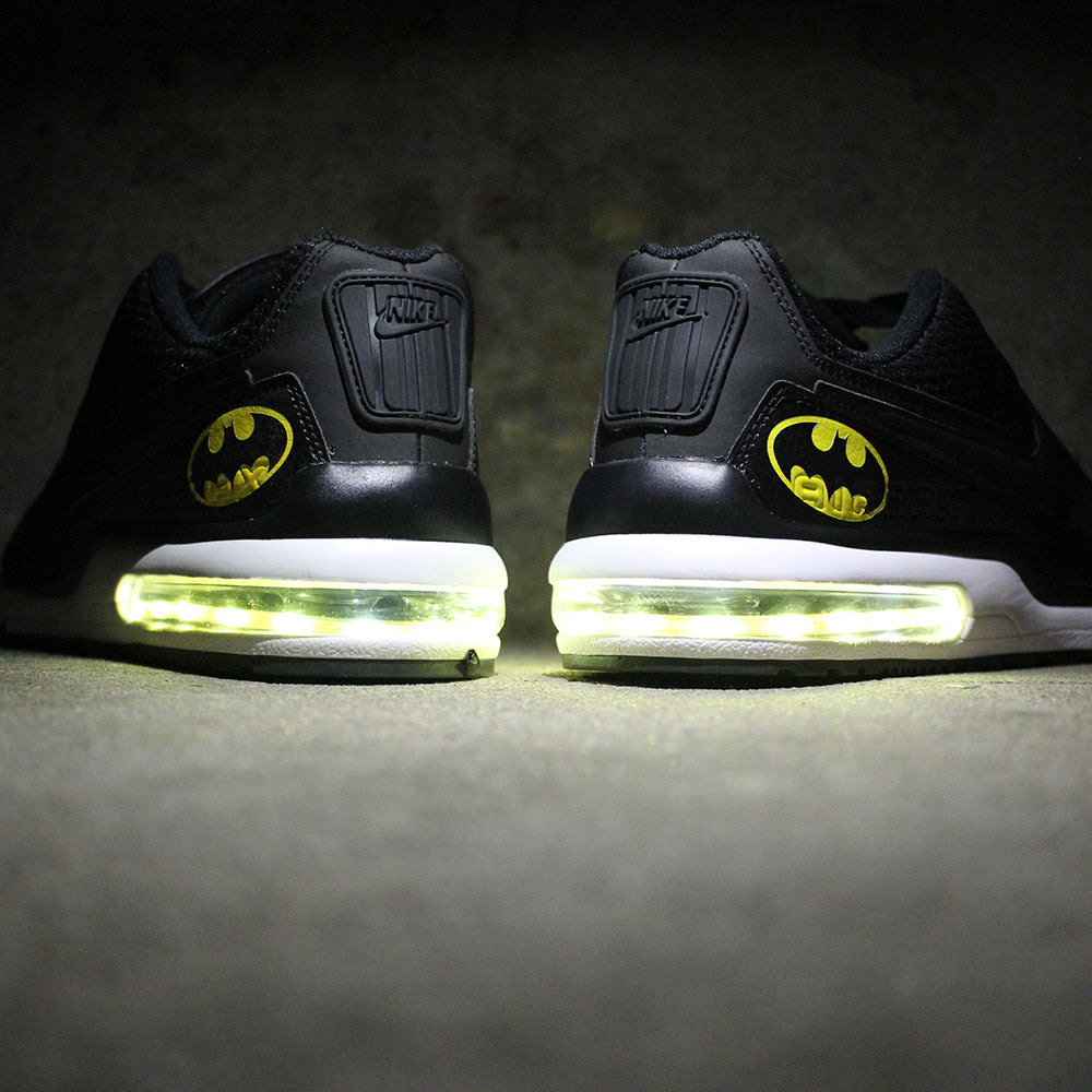 d7e9fdd7e312 batman nike air max 90 with yellow led lights