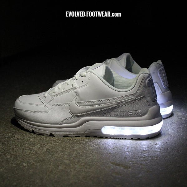MENu0027S ALL WHITE NIKE AIR MAX LTD WITH LED LIGHTS & LED Light Up Sneakers | Light Up Shoes For Adults [Custom Nikes] azcodes.com