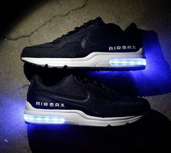 BLACK AND WHITE NIKE AIR MAX LTD WITH LIGHTS