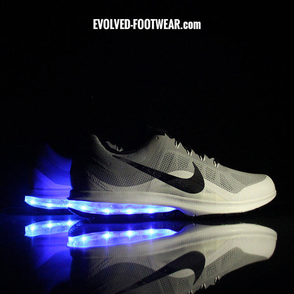 MENu0027S GRAY NIKE AIR MAX DYNASTY WITH LED LIGHTS & LED Light Up Sneakers | Light Up Shoes For Adults [Custom Nikes] azcodes.com