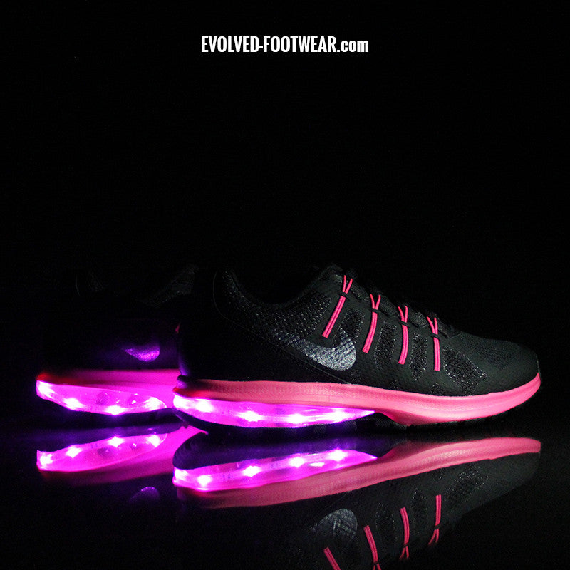 WOMENS NIKE AIR MAX DYNASTY WITH PINK LIGHTS