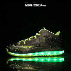 NIKE LEBRON XI MAX LOW DUNKMAN WITH GREEN LIGHTS - Evolved Footwear