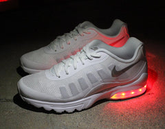 WOMENS WHITE NIKE AIR MAX INVIGOR WITH LIGHTS - Evolved Footwear