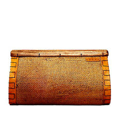 Clutch With Tropical Wood Closure