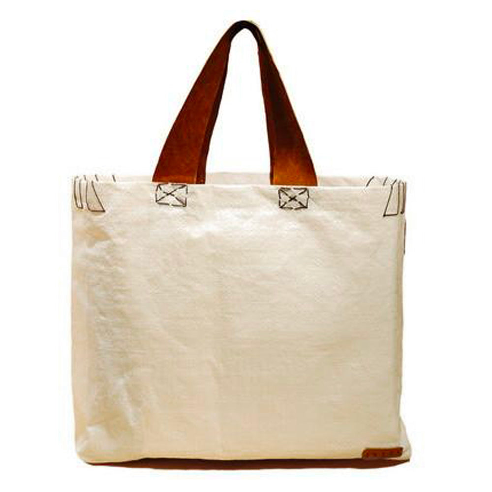 White Raffia Tote with Suede Strap