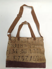 Vintage Burlap Man Bag