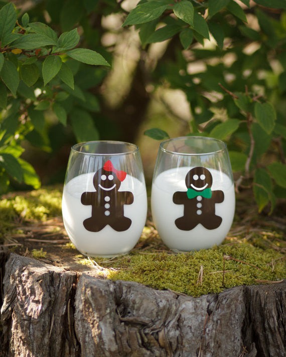 His And Hers Christmas Tree Glasses Champagne Flute And Pint Glass