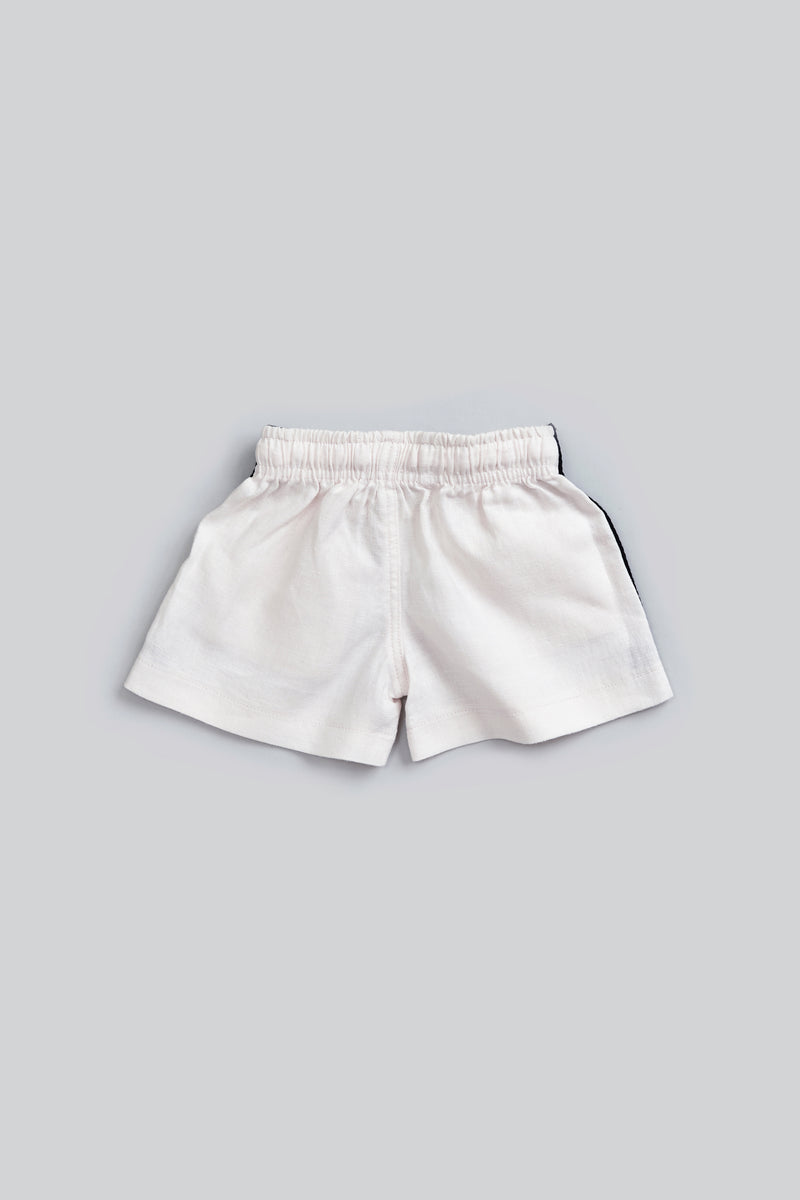 linen stripe short