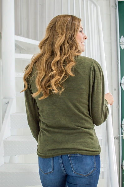 Date Night Top | Spring Olive