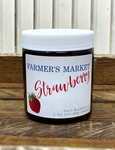 Farmer's Market Candles - 6 oz soy wax