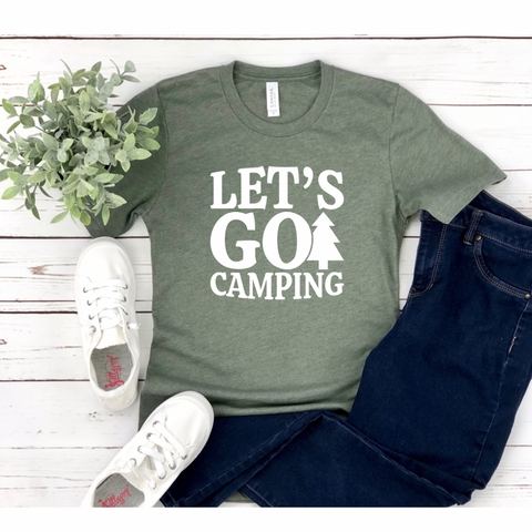 Let's Go Camping - Graphic Tee - RTS