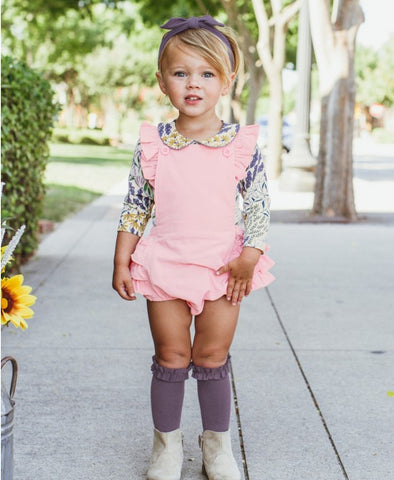 3-Pack Ballet Pink, Shadow Purple, Charcoal Knee High Socks