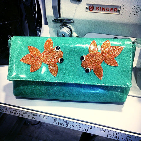 Wristlet- with Goldfish