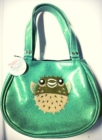 FishBowl bag- with Puffer Fish