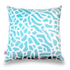Fan Coral - Aqua Pillow Cover