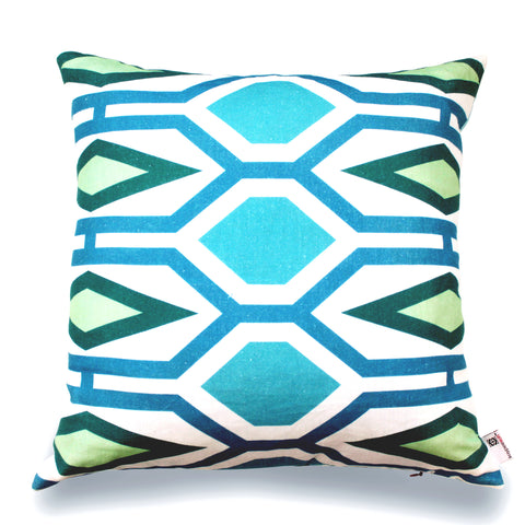 Honeycomb - Emerald Pillow Cover