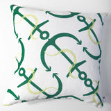 Anchor's Away - Emerald Pillow Cover
