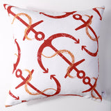 Anchor's Away - Melon Pillow Cover