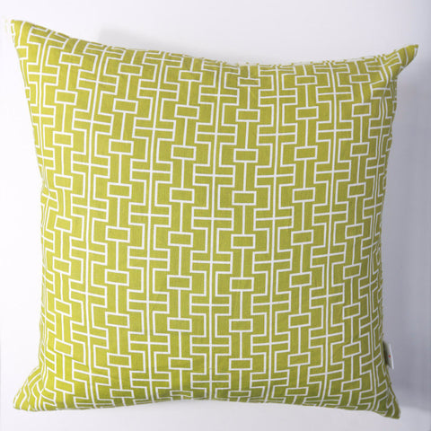 Grid - Lime Green Pillow Cover