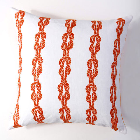 Knotted Up - Fire Pillow Cover