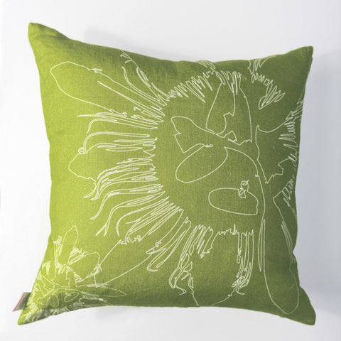 Lilikoi - Lime Green Pillow Cover