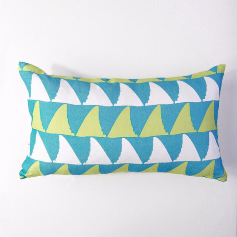 Mano - Aqua/Lumbar Pillow Cover