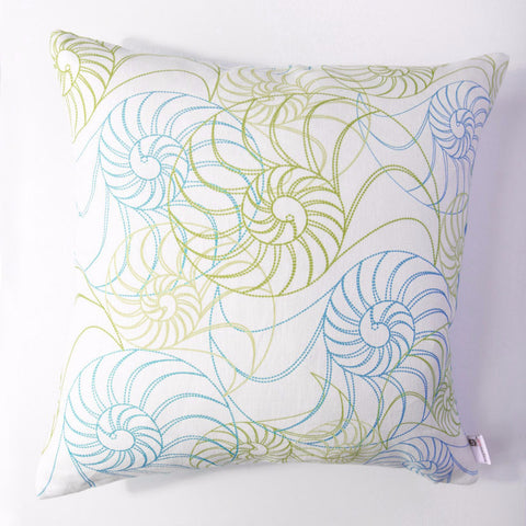 Nautilus - Aqua Pillow Cover